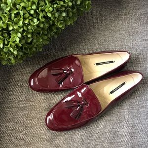 Zara Red Patent Loafers Size 40 (10)